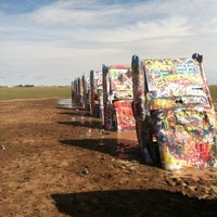 Photo taken at Cadillac Ranch by Rich D. on 9/27/2012