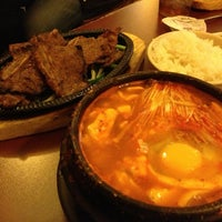 Photo taken at Dolsot House | K-Town BBQ Korean Restaurant by Jacqueline R. on 2/17/2013