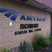 Photo taken at Richmond - Staples Mill Road Amtrak Station (RVR) by Bonnie P. on 9/16/2012