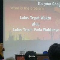 Photo taken at Gedung K, ITTelkom Bandung by Regina Fransiska Mayfarth on 4/19/2013