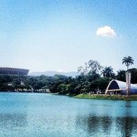Photo taken at Lagoa da Pampulha by Karen G. on 1/6/2013
