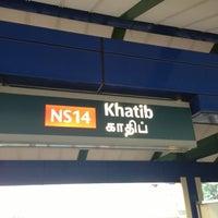 Photo taken at Khatib MRT Station (NS14) by Jake D. on 10/13/2012