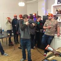 Photo taken at Thrillist HQ by Erin G. on 12/13/2012