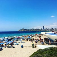 Photo taken at Benidorm West Beach by Xiana F. on 8/1/2016