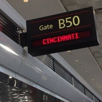 Photo taken at Gate B50 by Sherry R. on 10/14/2014