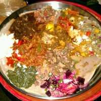 Photo taken at Ras Dashen Ethiopian Restaurant by Liz P. on 1/27/2013