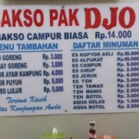 Photo taken at Bakso Pak Djo by wirawan w. on 4/20/2016