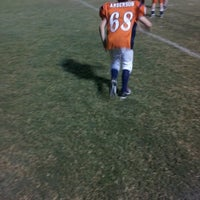 Photo taken at Acworth Warriors Football Field by Sean A. on 10/17/2012