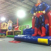 Photo taken at Bounce House Williamsburg by Amy G. on 2/20/2013