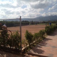 Photo taken at Canchas De Tennis Instituto Sanmiguelense by Luis b. on 10/13/2013