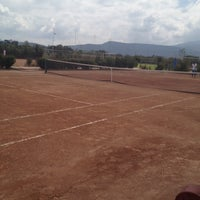Photo taken at Canchas De Tennis Instituto Sanmiguelense by Luis b. on 10/12/2013