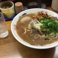 Photo taken at ラーメン東大 応神店 by yuka t. on 4/5/2016