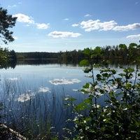 Photo taken at Озеро Бородинское by Kristina on 9/12/2015