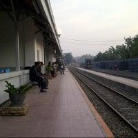 Photo taken at Stasiun Cicurug by riki mandala p. on 9/16/2014