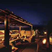 Photo taken at Rooftop Bar Bab Al Shams by Bab Al Shams Desert Resort & Spa on 2/10/2014