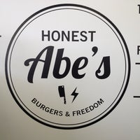 Photo taken at Honest Abe's Burgers & Freedom by Catie K. on 11/24/2012