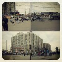 Photo taken at Остановка «Ст. м. Пионерская» by Леонид Б. on 6/14/2013