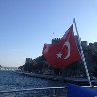 Photo taken at Rumelihisarı Sahili by Barkin C. on 7/19/2013