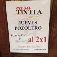 Photo taken at Casa Tixtla Pozoleria by Celeste T. on 3/28/2013