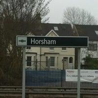 Photo taken at Horsham Railway Station (HRH) by Stacey F. on 2/26/2013