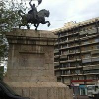 Photo taken at Plaça d'Espanya by Alexis G. on 10/26/2012