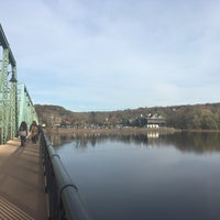 Photo taken at New Hope-Lambertville Toll Supported Bridge by Seda S. on 11/11/2017
