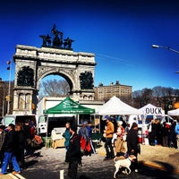 Photo taken at Grand Army Plaza Greenmarket by Marc L. on 3/9/2013