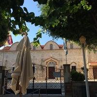 Photo taken at Ιερός Ναός Εισοδίων της Θεοτόκου by Ayşe Y. on 8/9/2014