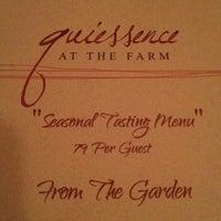 Photo taken at Quiessence Restaurant by Tom W. on 12/21/2013
