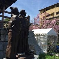 Photo taken at 「龍馬とお龍、愛の旅路」像 by Jagar M. on 4/4/2015