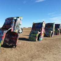 Photo taken at Cadillac Ranch by Somebooodee on 12/23/2012