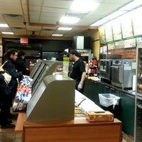 Photo taken at Subway by jina H. on 1/26/2013