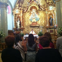Photo taken at Parroquia de Santo Domingo de Guzmán by Raúl A. on 10/13/2012