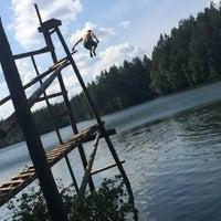 Photo taken at Ольховское озеро by Masha V. on 8/10/2014
