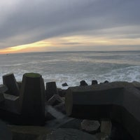 Photo taken at North Jetty by Jennifer W. on 1/30/2017