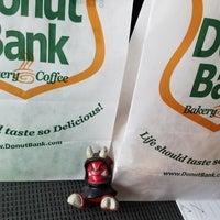 Photo taken at Donut Bank Bakery & Coffee Shop by Dan E. on 3/9/2018