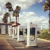 Photo taken at Tesla Supercharger Station by Neha W. on 3/30/2014