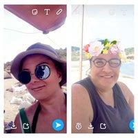Photo taken at Kayalık Beach by özlem g. on 8/1/2016