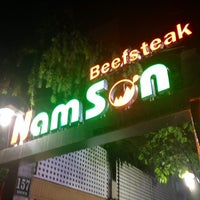 Photo taken at Nam Sơn beefsteak by nenhime S. on 7/18/2014