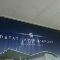 Photo taken at Depati Amir Airport (PGK) by Wiwit H. on 11/27/2012