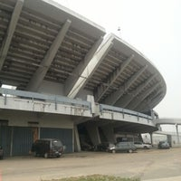 Photo taken at Lagos National Stadium by Paul A. on 2/2/2013