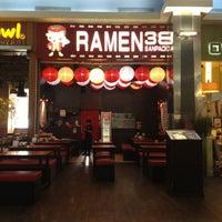 Photo taken at Ramen 38 (Sanpachi) by Patricia A. on 3/1/2014