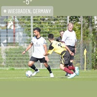 Photo taken at DJK SC Schwarz-Weiß Wiesbaden e.V. by AbdulAziz E. on 2/28/2018