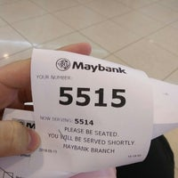 Photo taken at Maybank by aisyah h. on 5/13/2016