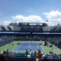 Photo taken at William H.G. Fitzgerald Tennis Stadium by Allen O. on 7/23/2016