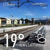 Photo taken at RENFE Les Franqueses del Vallès by Yawen Aven C. on 5/22/2013