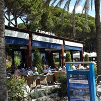 Photo taken at Cappuccino Marbella by Ghada A. on 4/5/2014