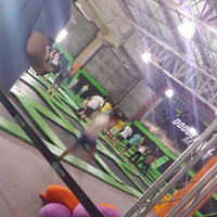 Photo taken at Jump Mania by Fred S. on 8/24/2014