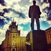 Photo taken at Triumfalnaya Square by Anna A. on 6/1/2013