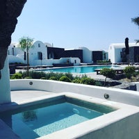 Photo taken at Santo Maris Oia Luxury Suites and Spa in Santorini by Kevin S. on 9/11/2016